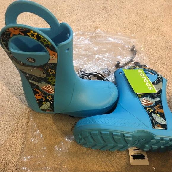 182109845 Kids  Crocs Fun Lab Creature Rain Boot